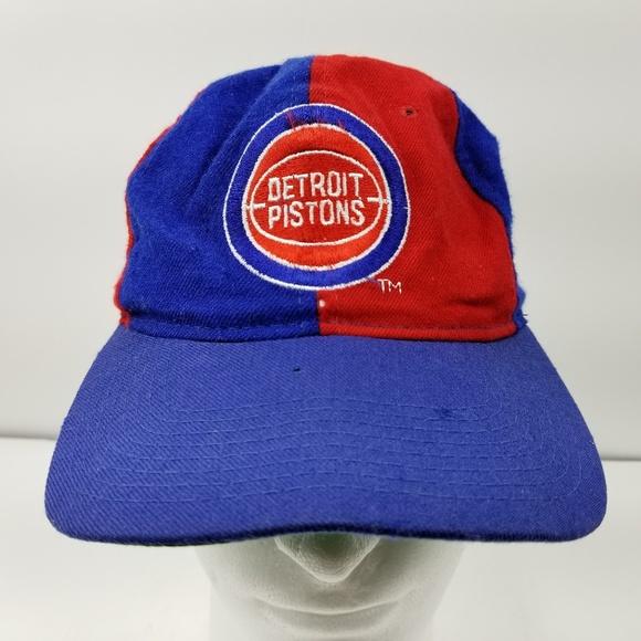 725e36ee Starter Accessories | Vtg Detroit Pistons Snapback Hat Cap Wool ...